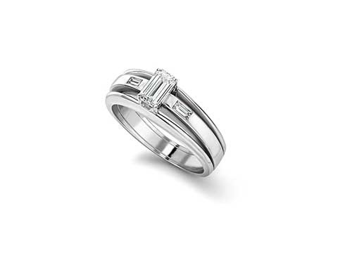 Platinum triple band ring