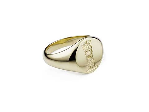 family shield signet ring