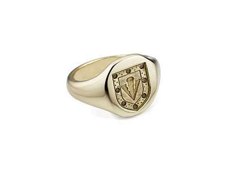 family shield signet ring