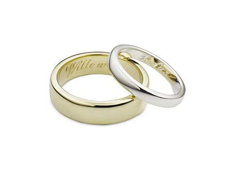 soft court wedding bands