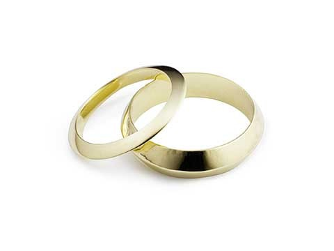 knife edge wedding bands