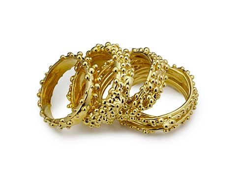 organic bobble wedding rings