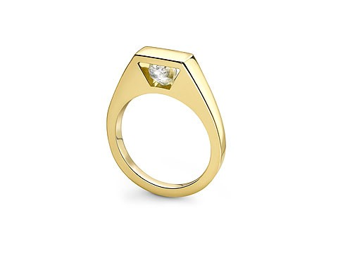Rough uncut Diamond ring