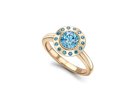 brilliant cut blue diamond