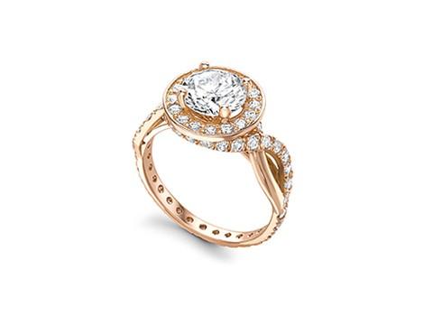 brilliant cut central diamond