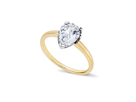 Large pear cut diamond ring