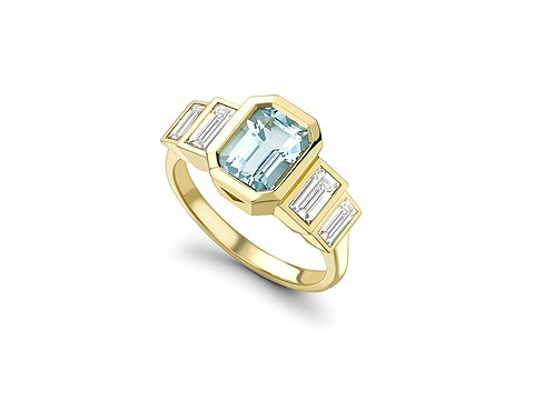 beautiful aquamarine ring