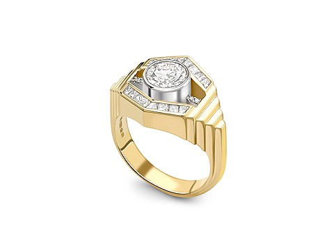 Deco inspired engagement ring