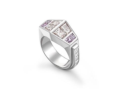 Chunky platinum engagement ring