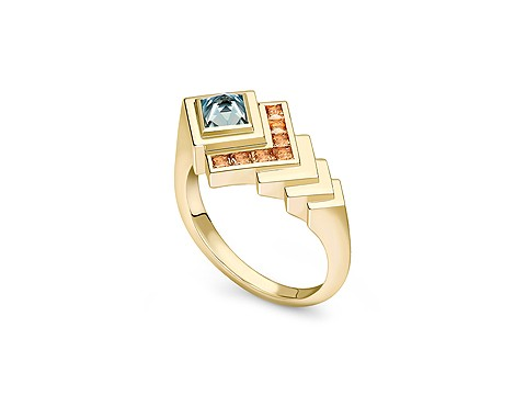 geometric design ring