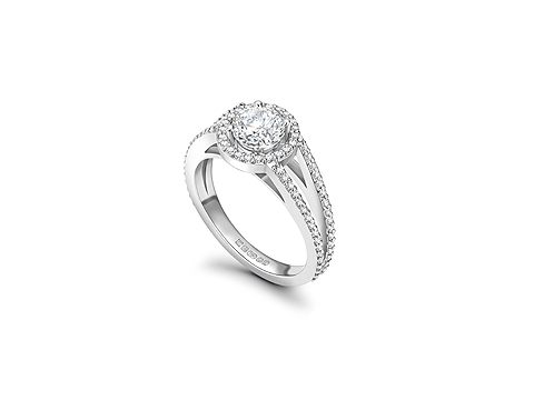 diamond encrusted white gold
