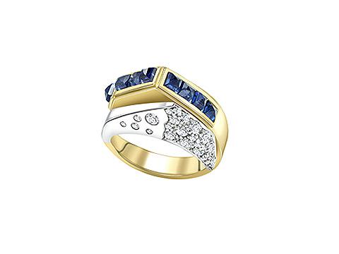 crossover eternity ring
