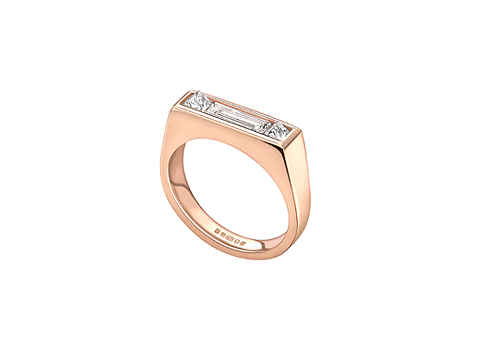 Minimal form rose gold