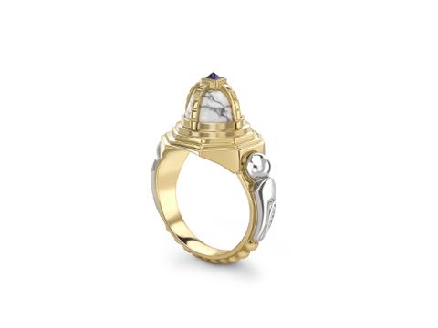 Ornate Howlite Ring