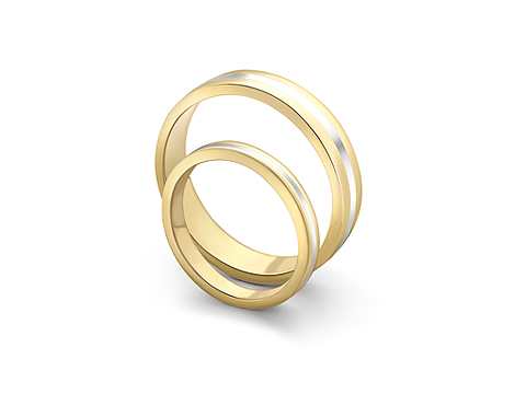 wedding bands with inlaid stripe