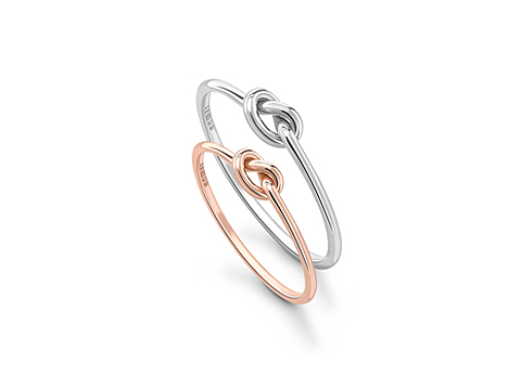 delicate knotted wedding band