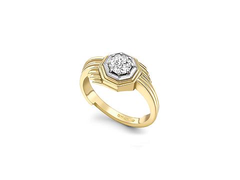 Octagonal Engagement Ring
