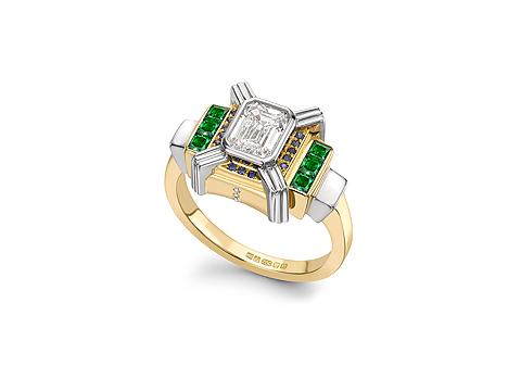 Radiating Engagement Ring