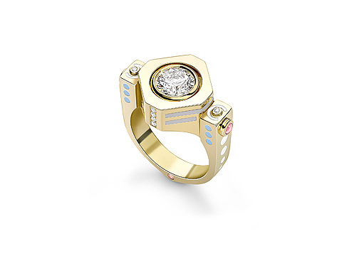 Kinetic Diamond Engagement Ring