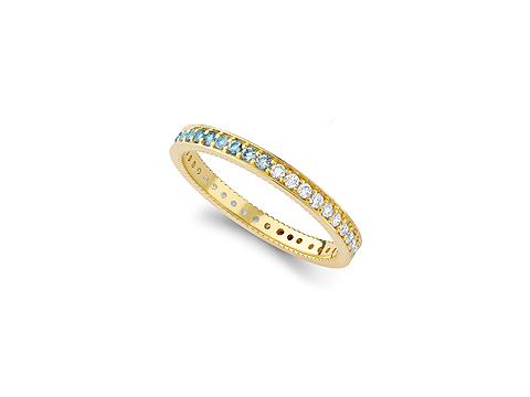 brilliant cut diamond and aquamarine