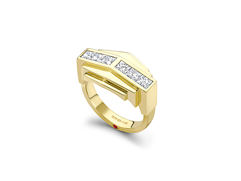 Chunky channel set ring