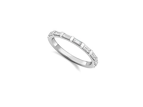 Baguette cut white diamonds