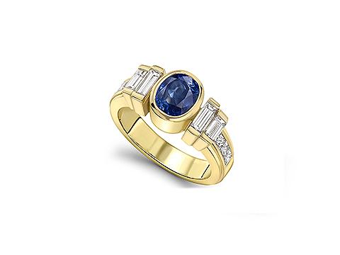 Chunky sapphire ring